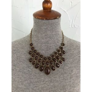 Vintage Multi Layered Beaded Statement Necklace